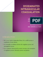 Disseminated Intravascular Coagualation