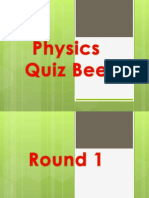 Physics Quiz Bee