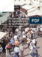 Diccionario-glosario de metodología de la investigación social