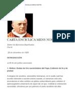 Carta Enciclica Mens Nostra