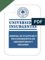 Manual de Politicas y Procedimientos de Talleres y Laboratorios