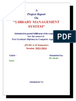 98940815 Library Management System VB Project Documentation