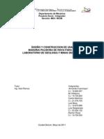Diseño y Construccion de Una Maquia Pulidora de Rocas Pa Ra El Iuteb