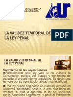Validez Temporal de La Ley PRESENTACION