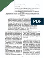 1983 RSM Applied to Bioconversion Preocess