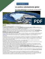 Deshielo Del Ártico Acelera Calentamiento Global