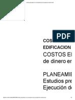Costos Generados en La Concepción de Un Proyecto de Construcción
