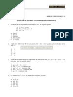 55 Ejercicios de Ecuación de 2do Grado y Función Cuadrática