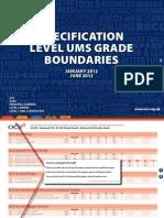 16253 Specification Level Ums Grade Boundaries 2012