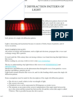 Single Slit Diffraction Pattern of Light