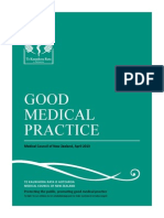 Medical Council of New Zealand, Good Medical Practice, A Guide for Doctors