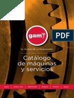 GAM Catalogo General de Maquinaria