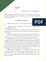 Il decreto n. 40 del 21 novembre 2009