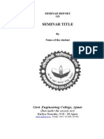 31517883 Seminar Report Format