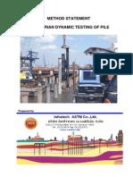 Method Statement Dynamic Load Test
