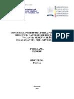 Fizica Programa Titularizare 2010