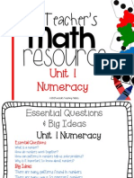 A Teachers Math Resource Unit Numeracy Free