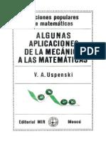 Algunas Aplicaciones de La Mecánica a Las Matemáticas - V. a. Uspenski