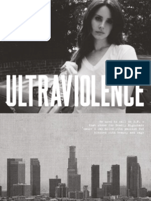 Lana Del Rey Digital Booklet Ultraviolence Sound Recording Music Technology