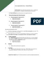 Outline of an Argumentative Essay