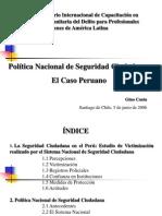 Gino Costa - Politica Seguridad Caso Peruano