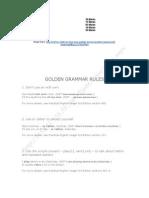 Golden Grammar Rules