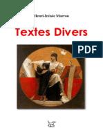 Henri-Irénée Marrou = Textes divers