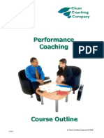Performance Coaching Outline