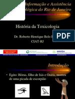 Historia Da Toxicologia - Anvisa
