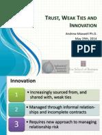 Trust, innovation and weak ties