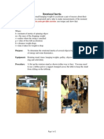 Phys4A Lab 9 Inertia