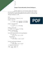 Contoh Perhitungan Thermodinamika