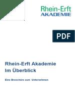 Infobroschüre über die Rhein-Erft-Akademie