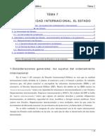 TEMA 7 La Subjetividad Internacional El Estado