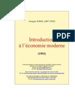 Sorel Georges - Introduction à l'Économie Moderne