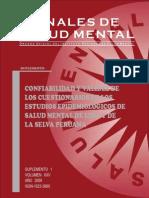 Confiabilidad y Validez de Instrumentos de Salud Mental Perú