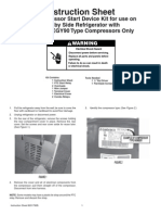Compressor Start Relay Instructions