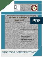 Procedimientos Constructivos II _pavimento de Concreto Hidraulico