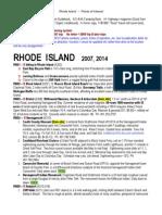 RHODE ISLAND Points of Interest 2014