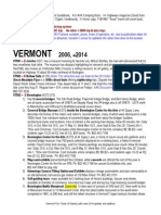 VERMONT Points of Interest 2014