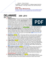 DELAWARE Points of Interest 2014