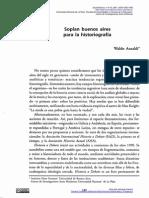 Ansaldi W_Soplan Buenos Aires Para La Historiografía
