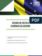 Resumo Da Política Economica Do Governo