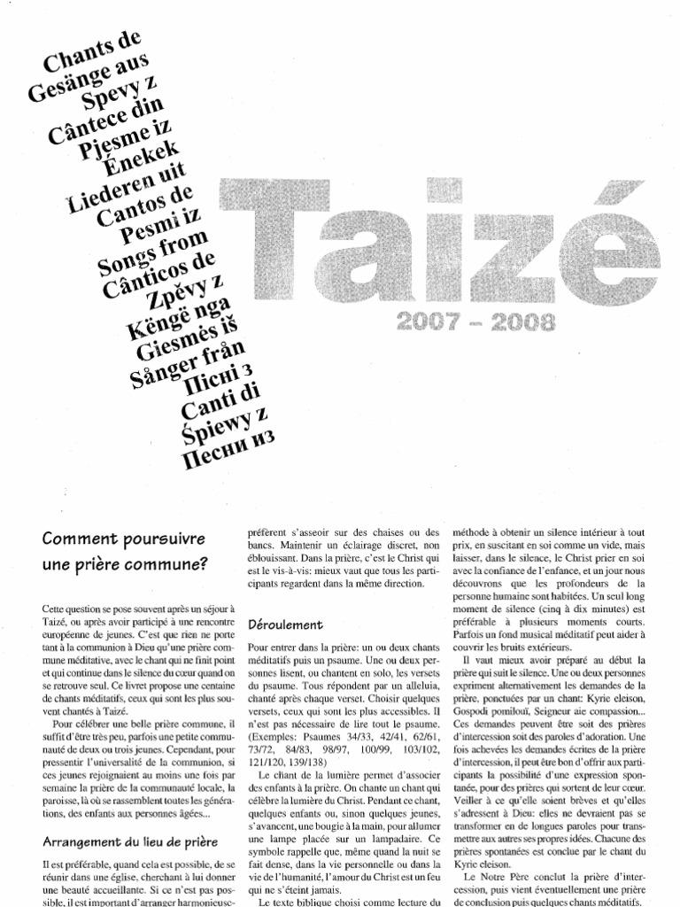Cancioneiro Taize Livro Canticos 2007 2008 #2: