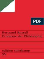 Russell, Bertrand - Probleme Der Philosophie [Edition Suhrkamp]