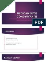 MEDICAMENTOS COADYUVANTES