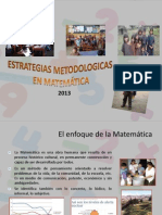Estrategias Metodologicas en Matematica Segun Ece 2013-7