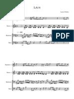 LA14 - Simplified Version No. 1 - Transposing Score
