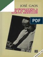 Gaos-Introducción a El Ser y El Tiempo de Martín Heidegger