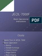 JEOL 7000F Basic Operation